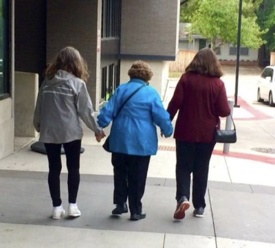 older ladies holding hands, friendship, stay social